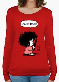 camiseta mafalda+camiseta+personalizada+original+regalo+camistea+mafalda+mujer+descuento+online+comprar+t-shirt+woman