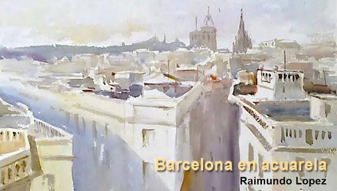 Barcelona en acuarela