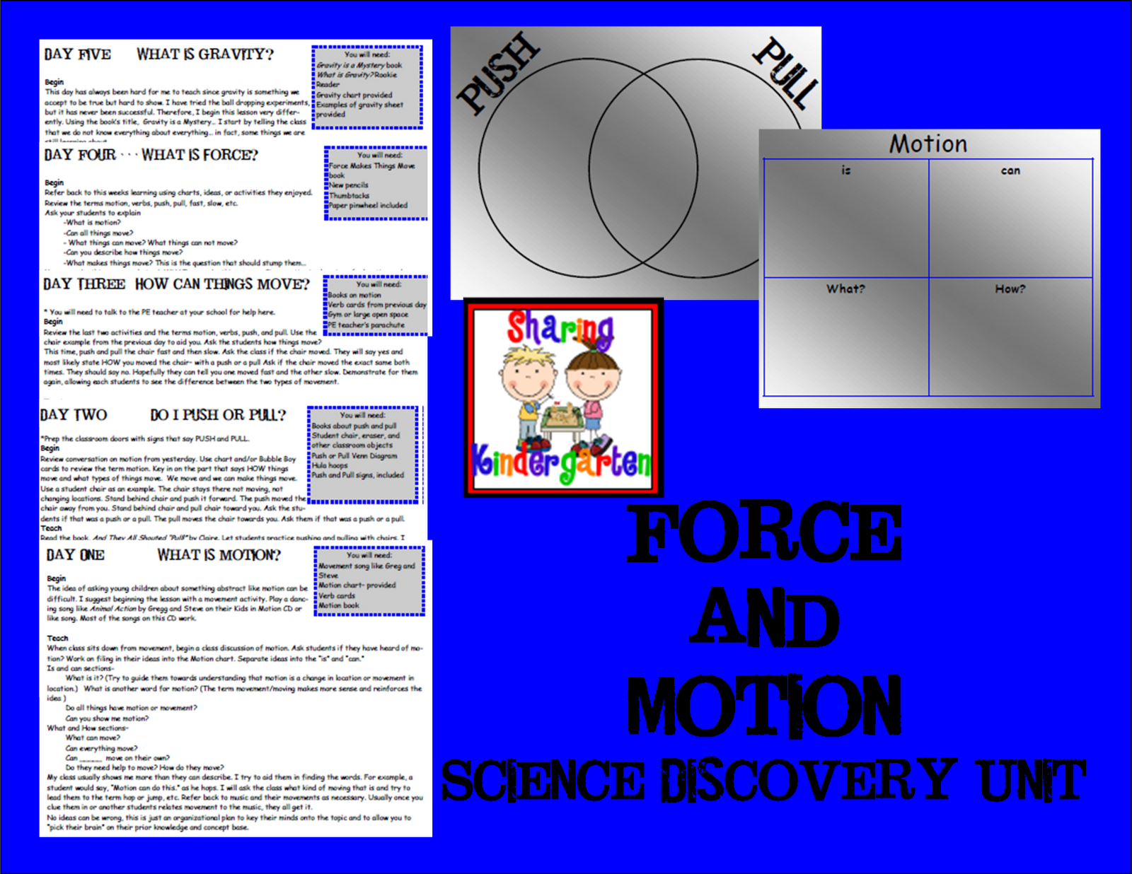 Forces and Motion Sharing Kindergarten – Forces and Motion Worksheets