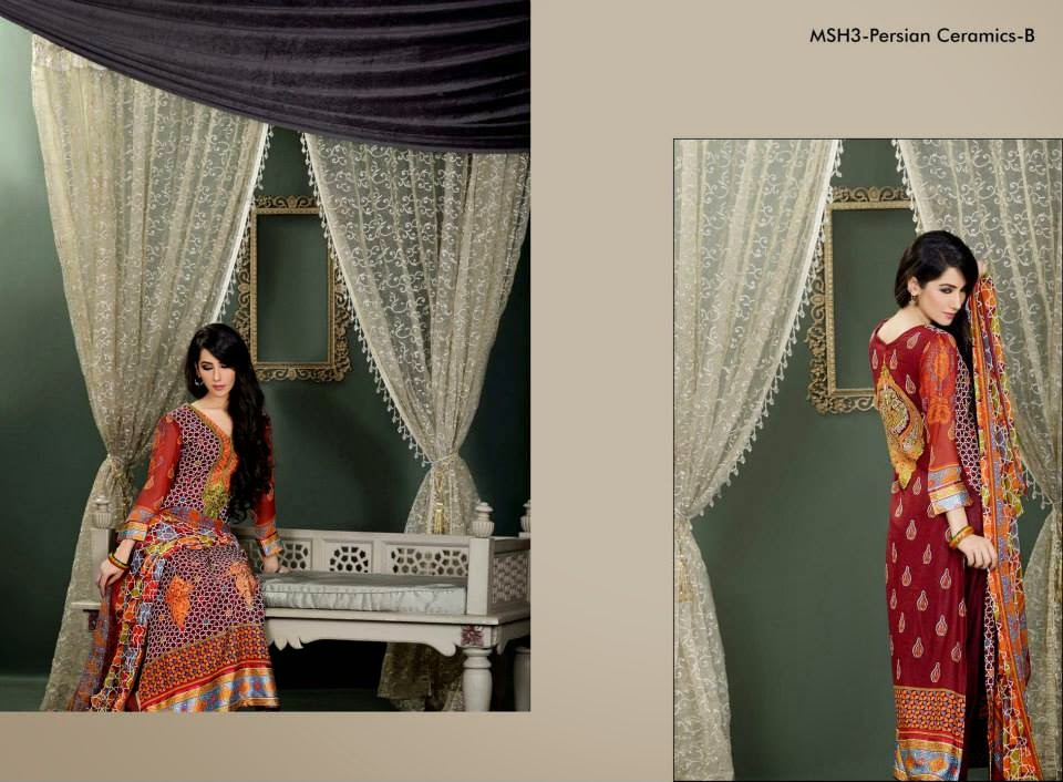 MashaalEmbroideredCollection2014VOL 03ByLalaTextile 6  - Mashaal Embroidered Collection 2014 VOL-3