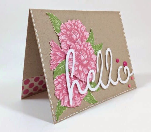 Close To My Heart Artfully Sent Floral Hello card sideview