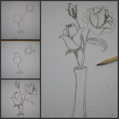 Corso di grafica e disegno per imparare a disegnare for Vaso di fiori disegno