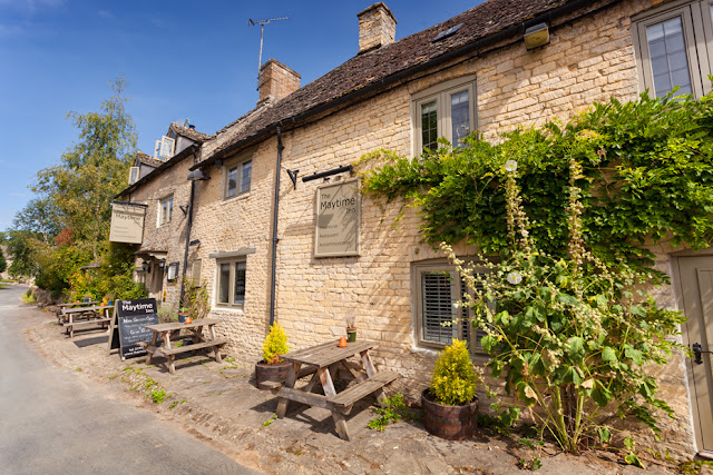 Cotswold pub the Maytime Inn in the village of Asthall by Martyn Ferry Photography
