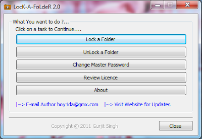 LocK-A-FoLdeR , Folder customization, folder locking softwares  , folder hiding softwares , freewares , windows softwares, security softwares,