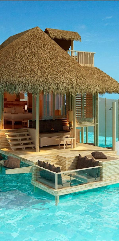 Resort Laamu Atoll, Maldives.