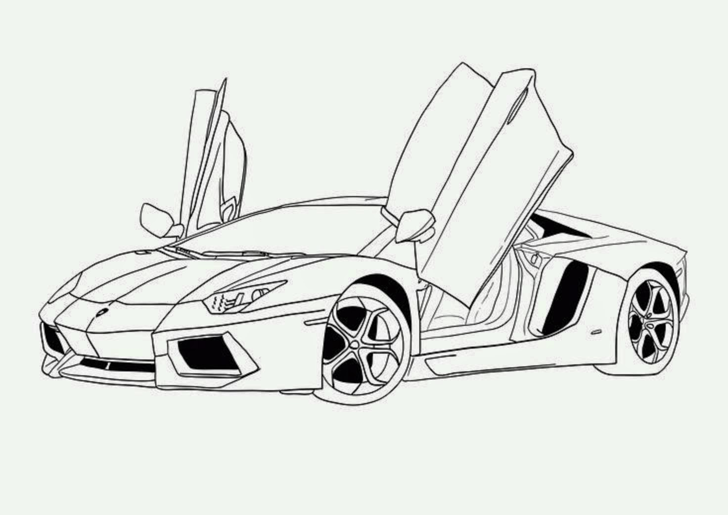 Colour a car - Car Coloring Drawing Free Wallpaper