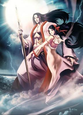 Assim  Izanagi conseguiu sair do mundo dos mortos sem que fosse comido    Izanagi And Izanami Sharingan
