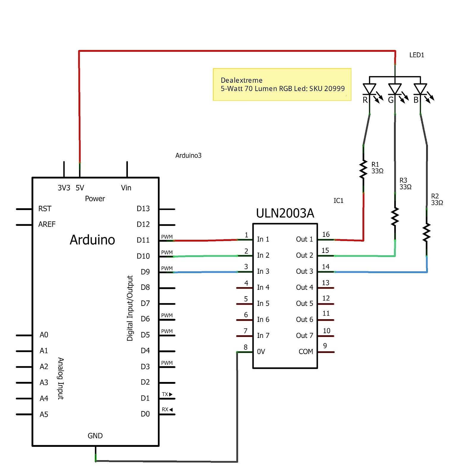 Rainbow rgb led with arduino cool