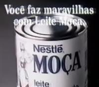 Campanha da Nestlé para promover o Leite Moça em 1987 juntamente com suas verdadeiras maravilhas.