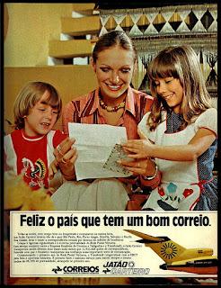 propaganda correios 1975; os anos 70; propaganda na década de 70; Brazil in the 70s, história anos 70; Oswaldo Hernandez;