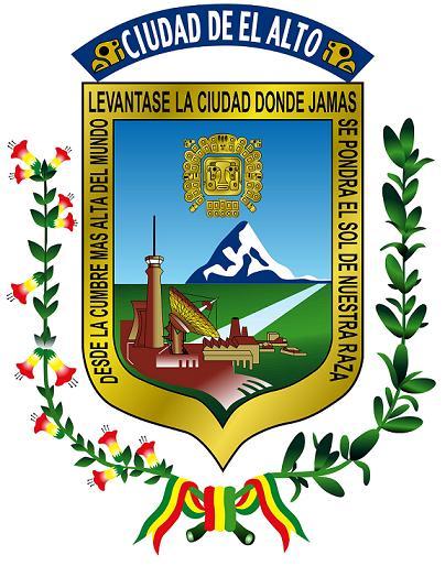 Símbolos de El Alto, Bolivia