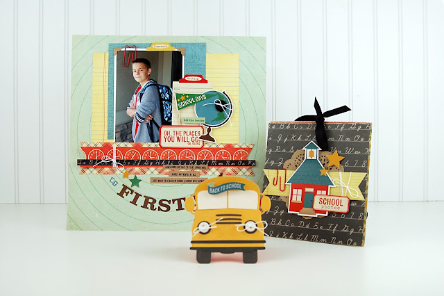 Back-to-School #scrapbooking, #cardmaking, and #papercrafting class with Jen Gallacher hosted by Big Picture Classes. http://www.bigpictureclasses.com/classes/back-to-school