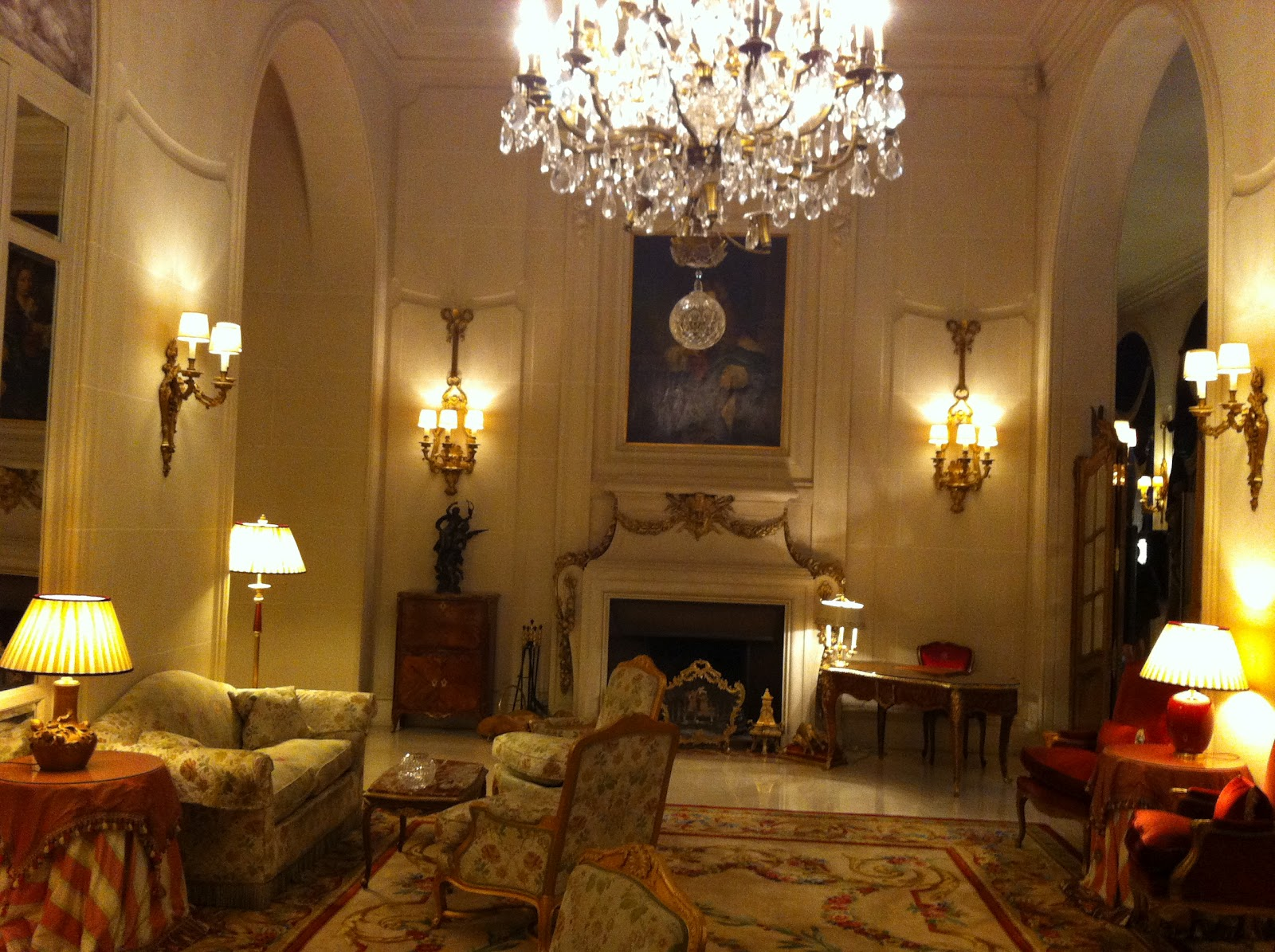 The French do chandeliers like no other (Ritz Carlton.)
