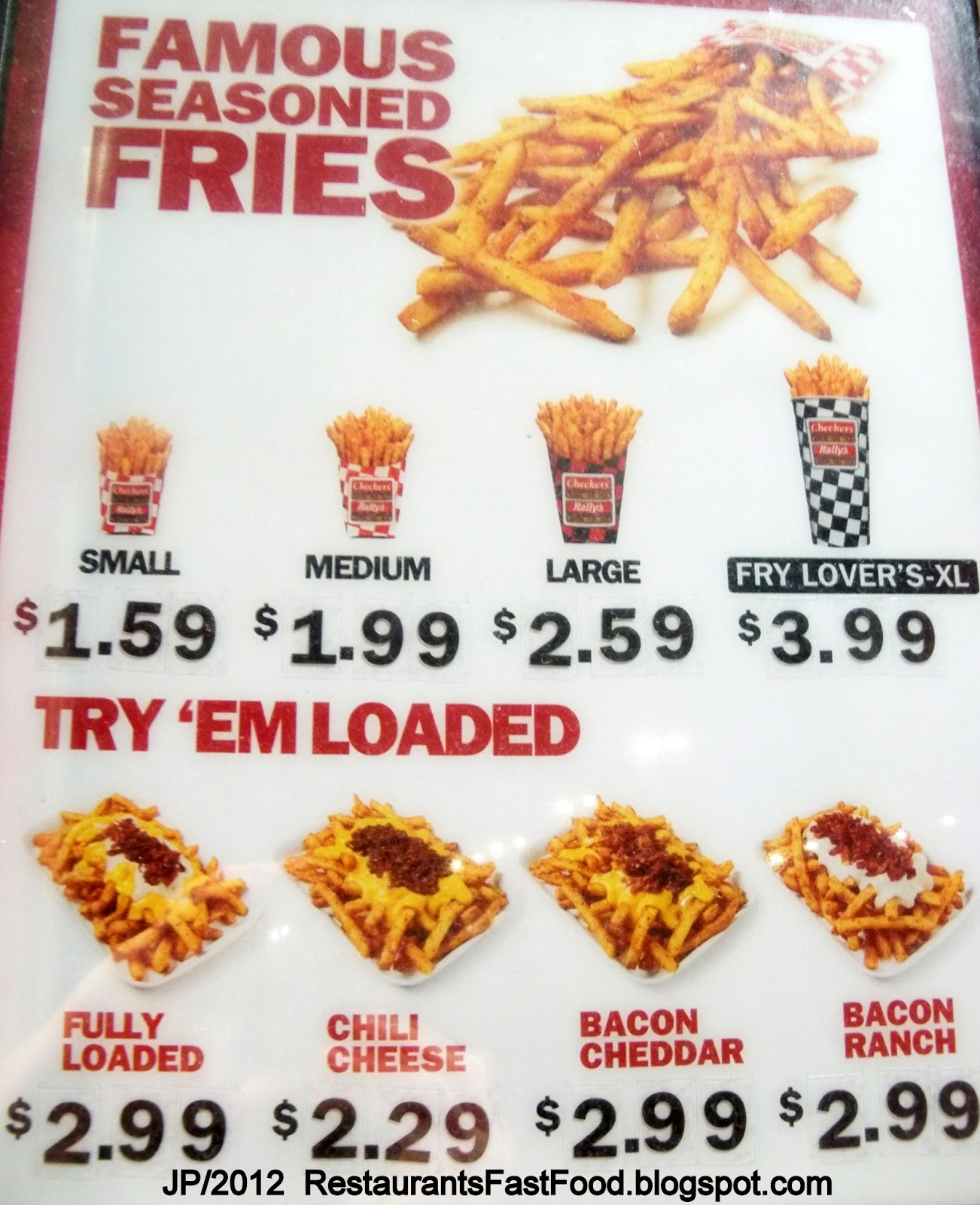 Fast food restaurant tallahassee fl checkers fries menu checkers