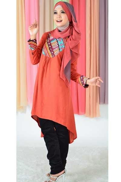 Model Pakaian Blus Muslim Casual
