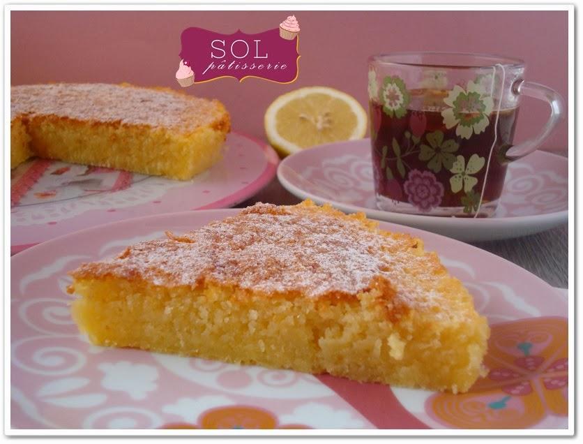 Caprese al limone - Gâteau italien au citron jaune - Bolo italiano de limão siciliano