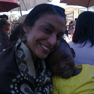 Lisa and our adorable daughther azwile