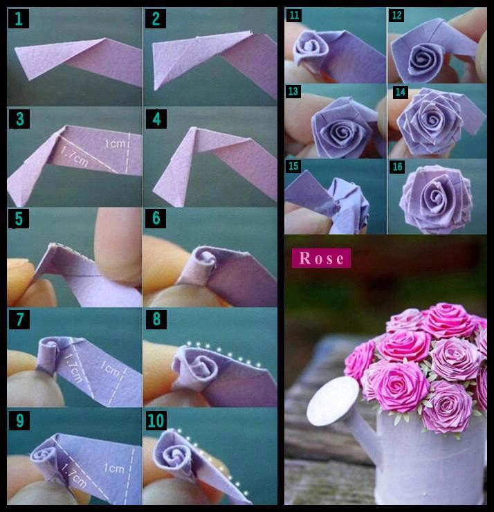 Красивые цветы из бумаги своими руками розы