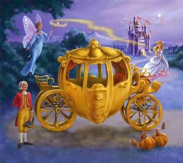 Gambar Kereta Kencana Cinderella Kartun Princess Wallpaper HD