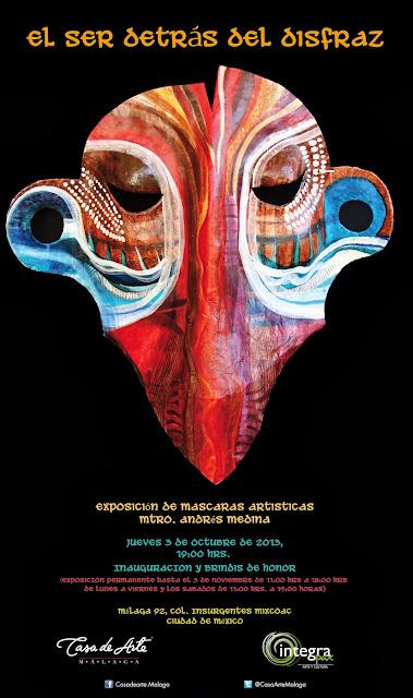 Exposición de máscaras y obra artesanal en la Casa de Arte Málaga