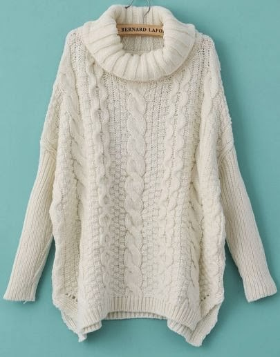 Beautiful White Cable Sweater
