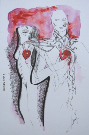 SWITCH MY HEART. Tinta china 2015. 10x15cm
