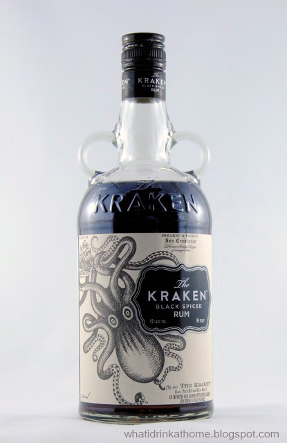 What i drink at home the kraken black spiced rum review for Mixed drink with spiced rum