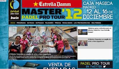 Web oficial Máster Padel Pro Tour 2012