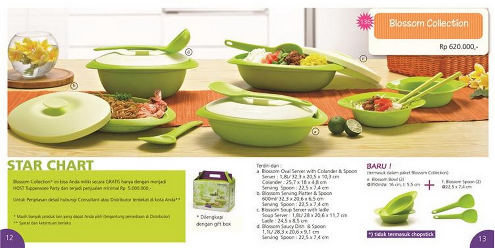Tupperware Promo Blossom Collection Free Tchef Fry Pan Rp 620000 Terdiri Dari