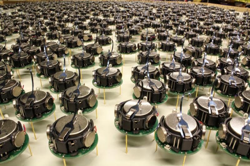 Massive Robotic Swarm Work Together