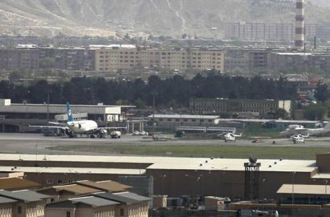 kabul airport. Rockets fired at Kabul airport
