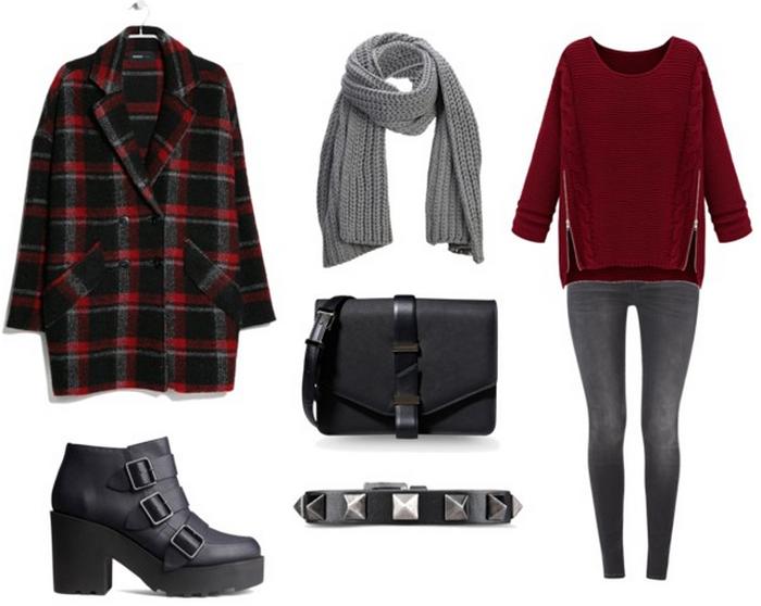 Meeting with friends outfit fall winter 2014 2015 blog fashion modowy zestaw na spotkanie z przyjaciółmi spacer płaszcz w kratkę check