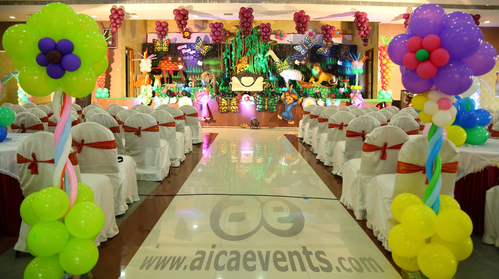 of fresh decorations jungle aicaevents theme party birthday decor