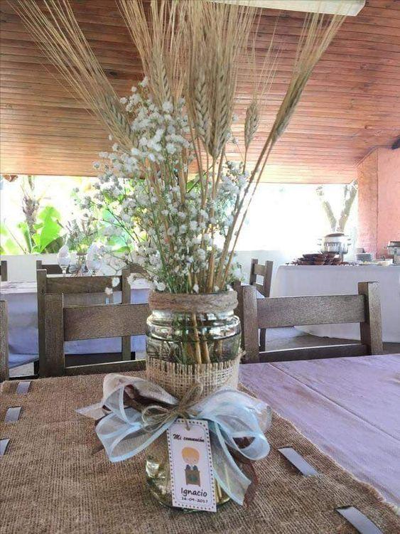centros de mesa para comunión