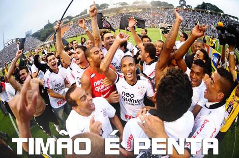 Corinthians campeão brasileiro 2012, Corinthians pentacampeão, campeão brasileiro,