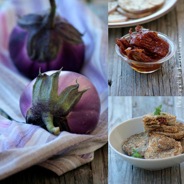 cotolette di melanzane con alici, pomodori secchi e scamorza + le bruschette del riciclo!