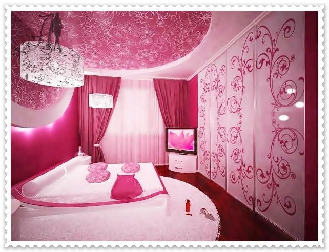 Bedroom Decoration, Pink Colour Bedroom, Sweet Pink Bedroom