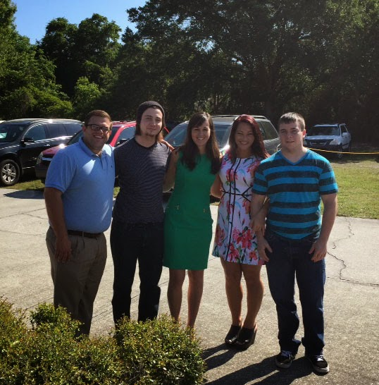 Mike, Logan, Me, Nicole, Luke at Easter Service