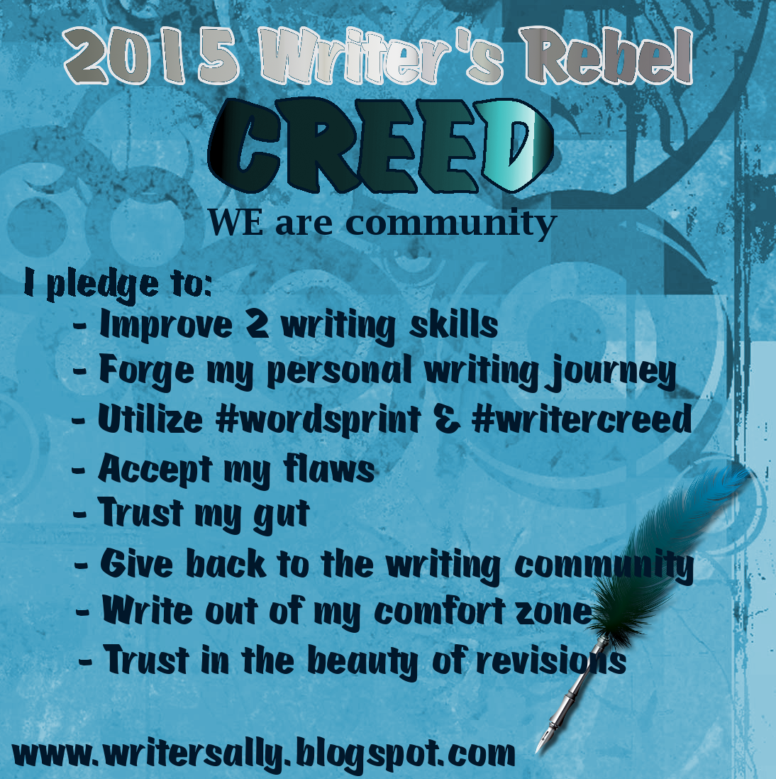 Writer's Rebel Creed 2015
