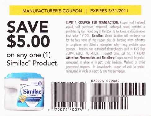 we were at rite aid last night and saw a couple similac items you can get really cheap with the 51 coupon in the 43 ss insert if you have the 20