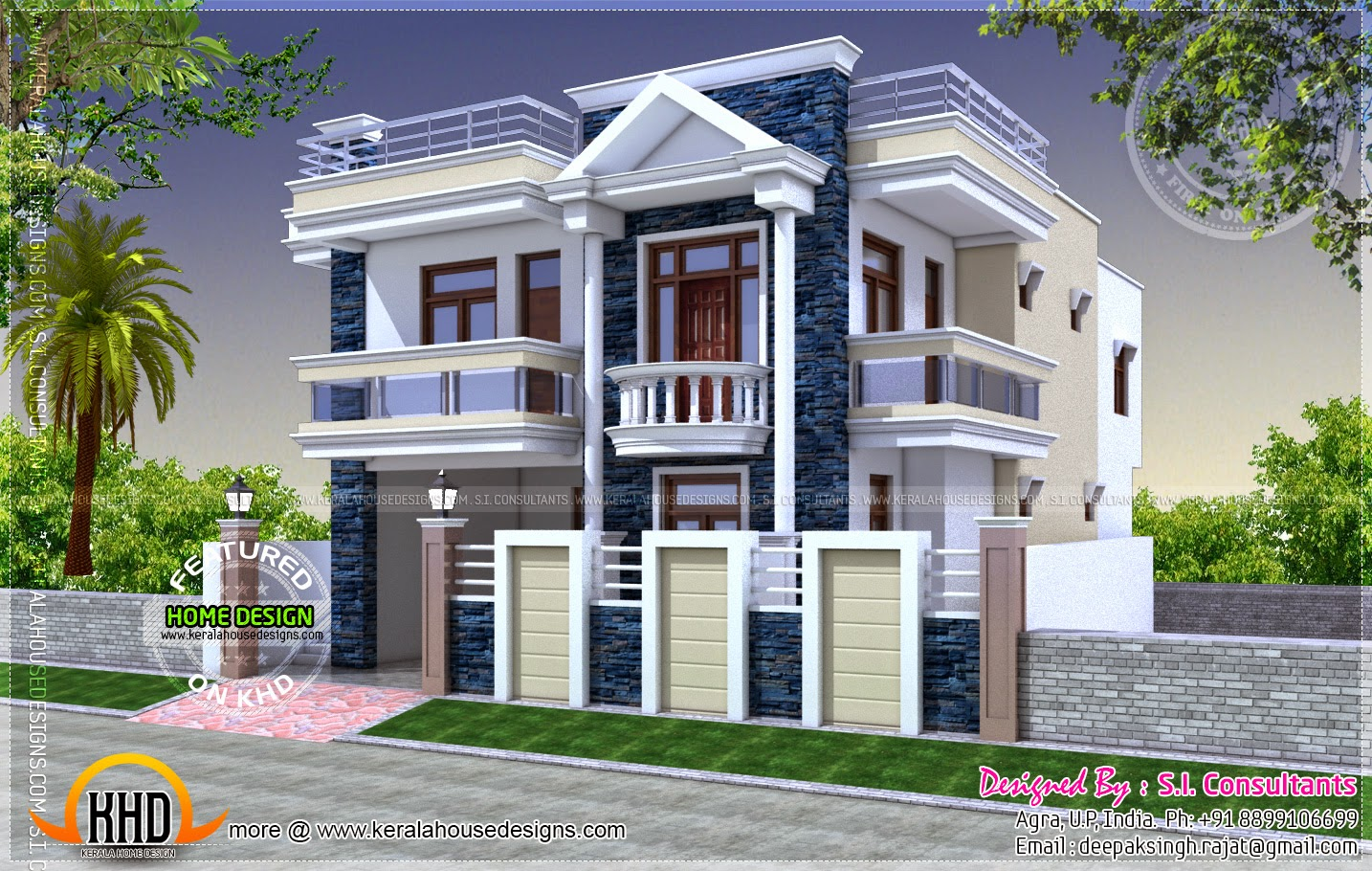 Kerala style house with separate car porch House plans indian style in 1200 sq ft