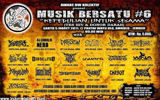 metal events Awake DW Kolektif Present Musik bersatu #6