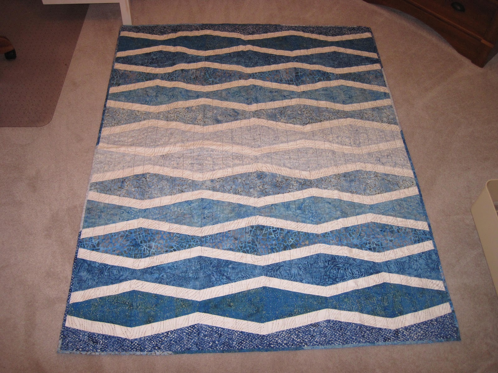 Quilts, Life and Balance: New Wave Quilt