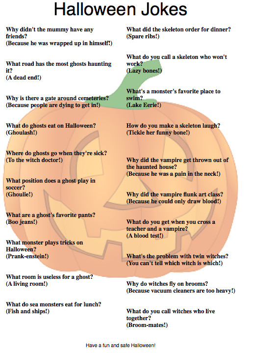i printed out a halloween wordle which is always a hit with kids a couple pages of halloween jokes and a sweet shel silverstein poem about trick or