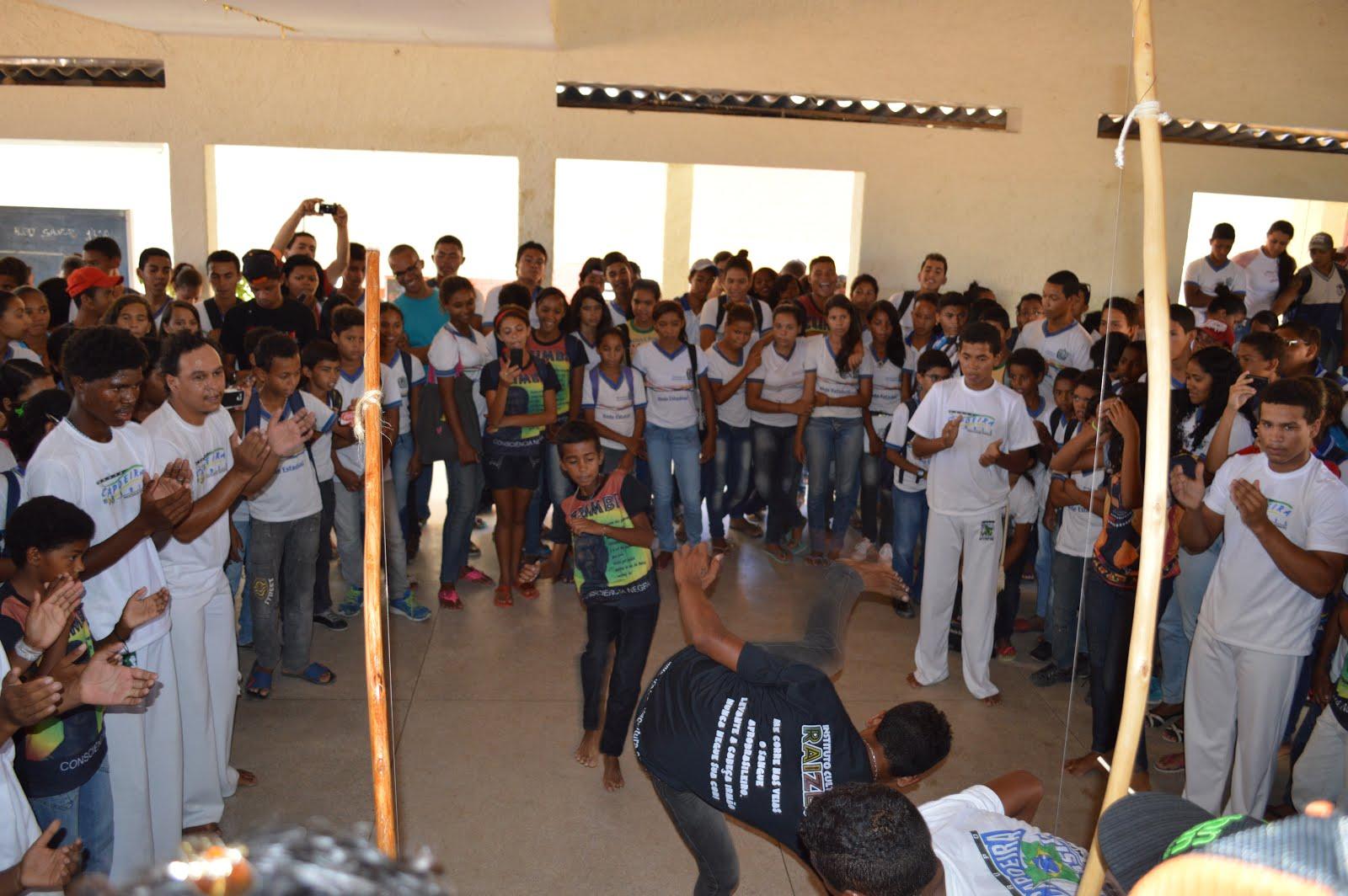 Apresentação de Capoeira, dia 28/11/2014