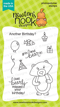 Winston's Birthday Stamp set by Newton's Nook Designs