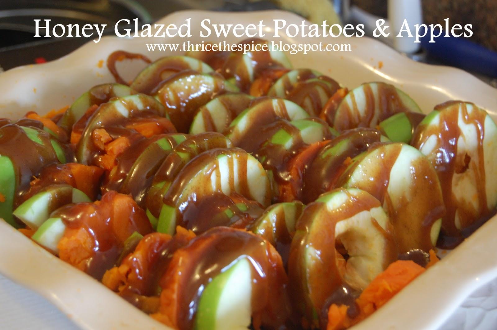 ThriceTheSpice: Honey Glazed Sweet Potatoes & Apples
