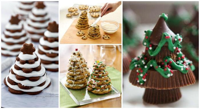 siempre podemos hacer unos deliciosos rboles de navidad con varios tipos de galletas o incluso bombones qu os parece luego la decoracin no tiene with ideas