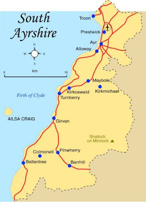 Map of South Ayrshire Province Area