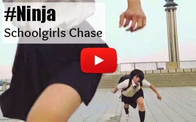 Japanese School Girls play Chase in Ninja Style while running on the walls, rooftops and so on using various ninja techniques via geniushowto.blogspot.com videos